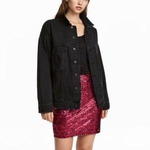 H&M NWT Glittery Mini Skirt